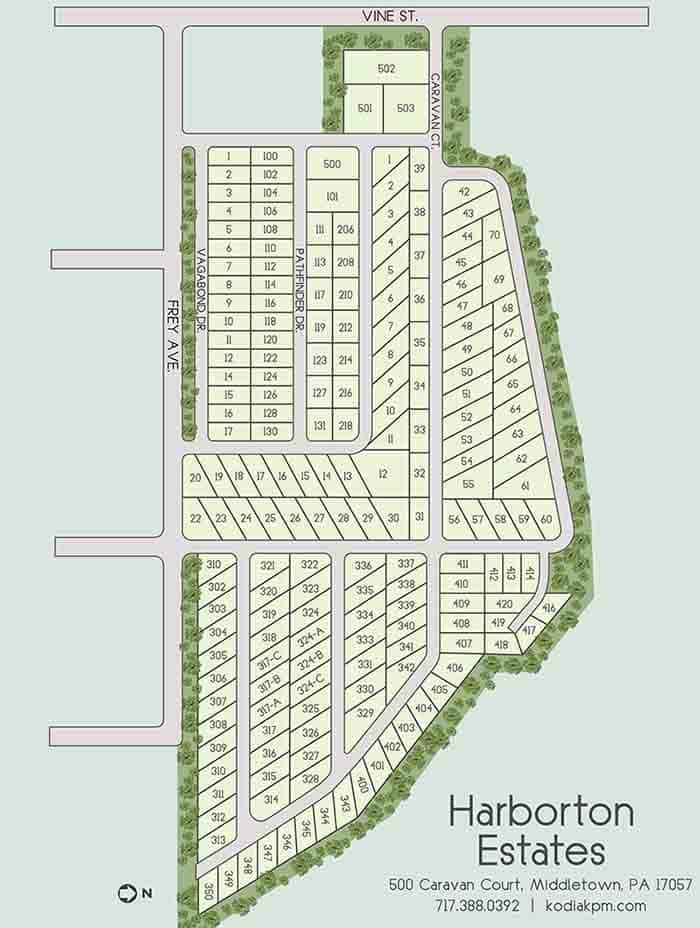 Kodiak-Site Map Harborton Estates